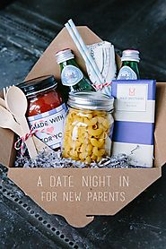 Gifts for Tiny Tots & New Parents | DIY At Home Date Night Gift Basket