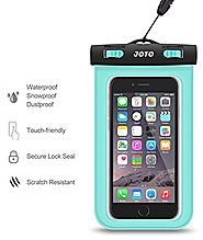 JOTO Waterproof Cell Phone Dry Bag Case for Apple iPhone 6, 6 plus, 5S 5C 5 4S, Samsung Galaxy S6, S5, Galaxy Note 4 ...