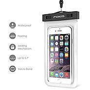 Best Waterproof Floating Cell Phone Case | Waterproof Case, MoKo Universal Floating Waterproof Case With Armband & Neck Strap for Apple iPhone 6s Plus / 6 Plus ...