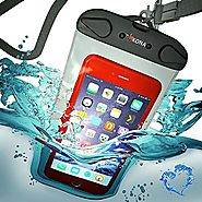 Best Waterproof Cell Phone Pouch | KONA® WATERPROOF CASE, Heavy-Duty Double Seam Universal Waterproof Case, 100ft Depth Phone Pouch Fits Apple iPHONE 6,...