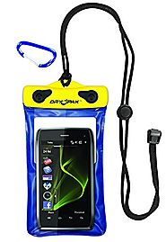 "Best Waterproof Cell Phone Pouch | DRY PAK DP-46 Yellow/Blue 4"" x 6"" GPS, MP3, Cell Phone Case"