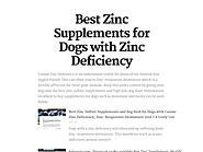 Best Zinc Sulfate Supplements and dog food for Dogs with Canine Zinc Deficiency, Zinc-Responsive Dermatosis 2016 | Best Zinc Supplements for Dogs with Zinc Deficiency