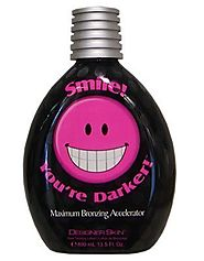 Top 10 Best Rated Tanning Lotions Reviews | 2010 Designer Skin Smile You're Darker Bronzer Tanning Lotion 13.5 oz.