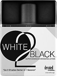 Devoted Creations White 2 Black Supre Advanced Bronzer Tanning Lotion, 8.5 Ounce