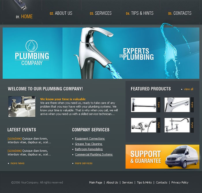 10 best plumbing website templates a listly list. Black Bedroom Furniture Sets. Home Design Ideas