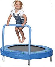 "Kids Trampoline With Handle And Music | Bazoongi 48"" Bouncer Trampoline with Handle Bar"