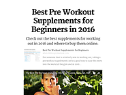 Pre Workout Supplement Information for Beginners in 2016 | Best Pre Workout Supplements for Beginners in 2016