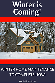 Best Winter Real Estate Articles for Buyers and Sellers | Winter is Coming! Winter Home Maintenance Checklist