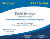 EpiPen Online Training for Anaphylaxis and Allergies