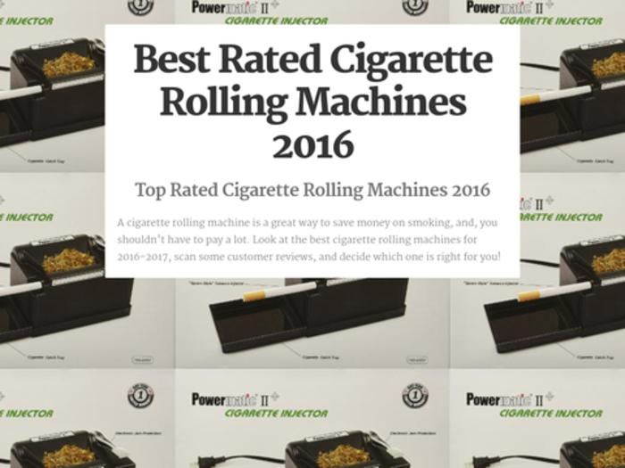 best cigarette rolling machine reviews