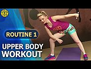 Gold's Gym At Home Workouts - Routine 1 : Upper Body Strengthening - Chest Shoulder Triceps