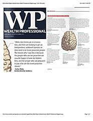 Who is a fee only planners ideal client? Kathy in Wealth Pro Magazine