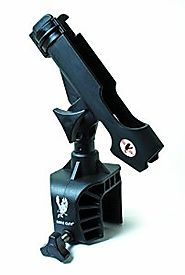 Best Boat Fishing Rod Holders | Eagle Claw AABRH Clamp-On Aluminum Boat Rod Holder, Black Finish