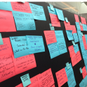 Beth Kanter Content Audit | Facilitating with Sticky Notes
