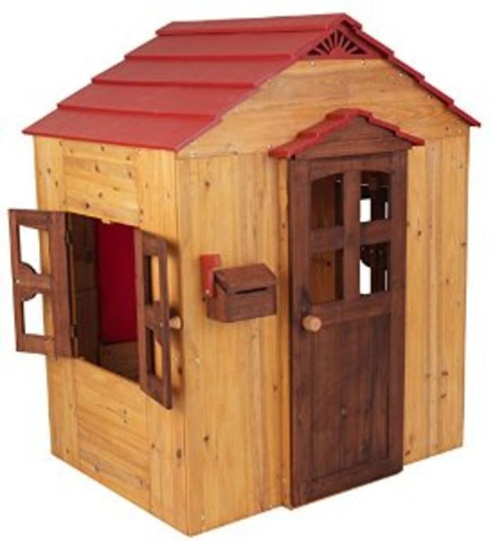 List of the best kids 39 wooden playhouses best reviews for Childrens wooden playhouse kits