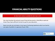 US Visa for Students - How to answer questions related to Financial Ability to support your study