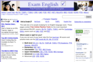 Test your English level online | Exam English - Free Practice Tests for IELTS, TOEFL, TOEIC and the Cambridge ESOL exams (CPE, CAE, FCE, PET, KET)