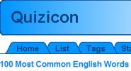 Quizicon - 100 Most Common English Words Quiz