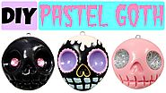 Pastel Goth: 10 DIY Ways to Get the Look. | How to Make EASY Skull | Pastel Goth Polymer Clay Charms |