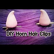 Pastel Goth: 10 DIY Ways to Get the Look. | DIY: Pastel Goth Horn Hair Clips