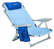WeJoy 4 Position Lightweight Portable Strong Stable Heavy Duty Folding Lay Flat Beach Chair for heavy people and Big ...