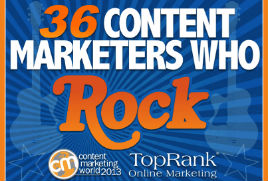 Content Marketing Rocks! 36 Rock Stars of #CMWorld