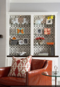 Non-Committal Ways to Use Wallpaper as an Interior Design Element | Bookcases