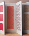 Non-Committal Ways to Use Wallpaper as an Interior Design Element | Door Panels