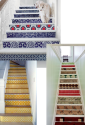 Non-Committal Ways to Use Wallpaper as an Interior Design Element | Stair Risers