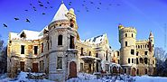 10 Most Beautiful and Abandoned Places in The World | Muromtzevo Castle, Russia