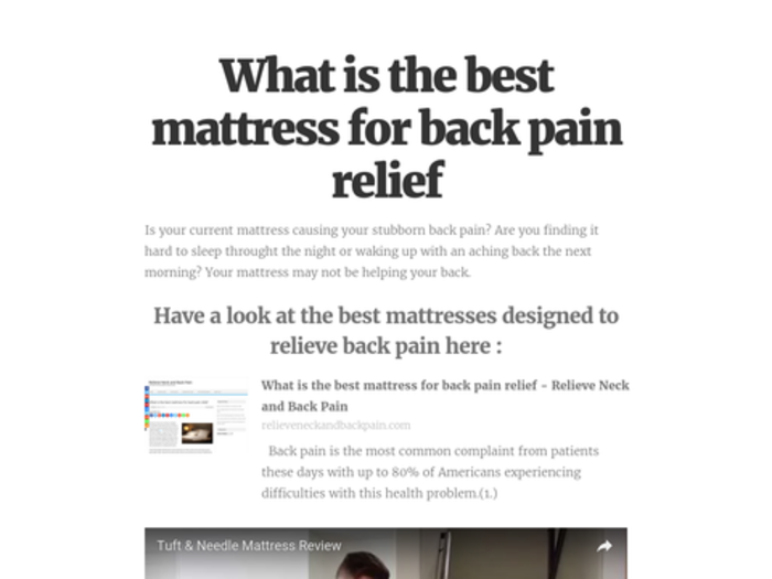 Top rated mattress to relieve back pain