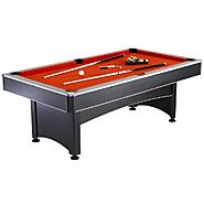Hathaway Maverick Table Tennis and Pool Table, Black/Red/Blue, 7-Feet