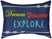 Indoor/Outdoor Decorative Nautical Throw Pillow