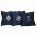 nautical throw pillows navy