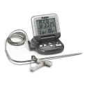 Top-Rated Meat Thermometers - Best Digital Meat Thermometers | Polder Digital In-Oven Thermometer/Timer, Graphite