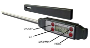 Chic Cuisine Meat Thermometer - Instant Read, Waterproof, Digital Meat & Cooking Thermometer - Best Quality LCD Pen S...