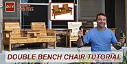 Easy To Build Diy Outdoor Furniture Plans 2016 | How to Make a Double Chair Bench | DIY Patio Furniture