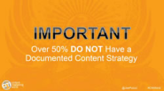 Content Marketing World 2013: the lack of a content strategy