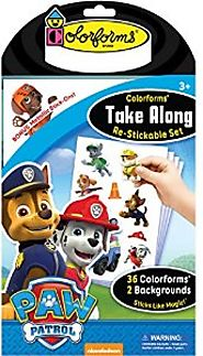 Spark Creativity this Summer | Colorforms Paw Patrol Take Along Paw Patrol Set