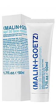 Must have beauty supplies for the end of summer | Malin + Goetz spf 30 face moisturizer