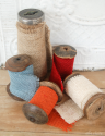{Ella Claire}: How to Make Burlap Ribbon the Cheap and Easy Way!