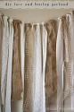 {Carissa Miss} diy burlap and lace garland