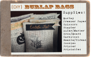 {Project Alicia} DIY Burlap Bags with Free Printables