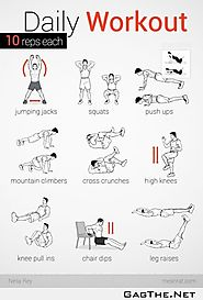 Daily Workouts at Home to Burn Fat & Get Fit | Daily Workout - 10 Reps Each