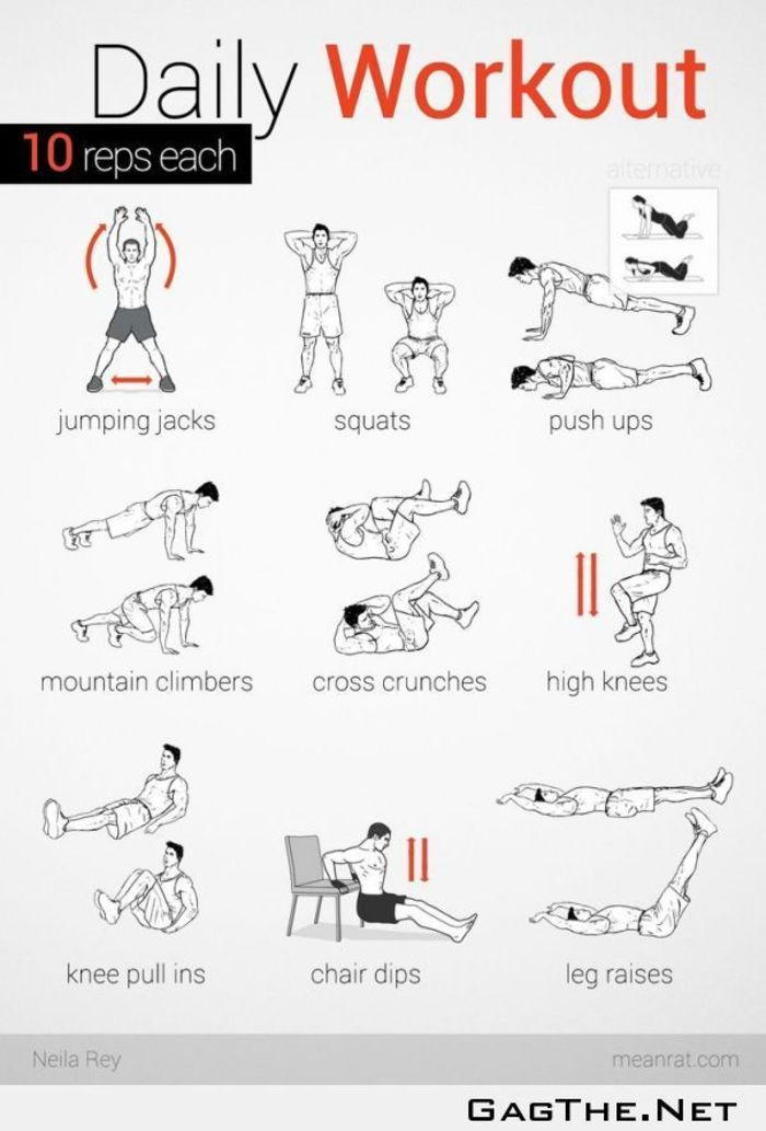 Daily workouts at home to burn fat get fit a listly list