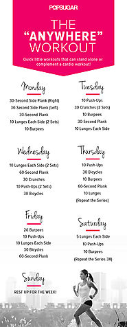 Daily Workouts at Home to Burn Fat & Get Fit | Busy Week? Here's Your Quick 7-Day Workout Plan