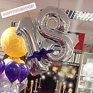 18th Birthday Number Balloon with Bow