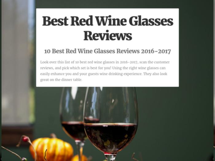Best Wine Glasses 2016 10 Best Red Wine Glasses Reviews