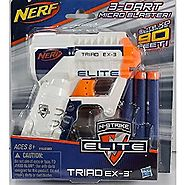 Top 11 Nerf Blasters Under $10 - 2017 Edition | Nerf A1690 N-Strike Elite Triad EX-3 Blaster