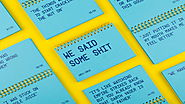 This Agency Compiled a Nifty Little Notebook Packed with One Client's Bizarre Quotes